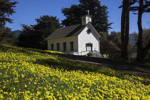 Wooden Church Wall Art - Photograph - Church In The Clover by Garry Gay