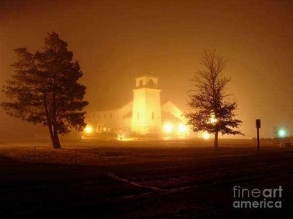 Photograph - Church In The Fog by William Johnson