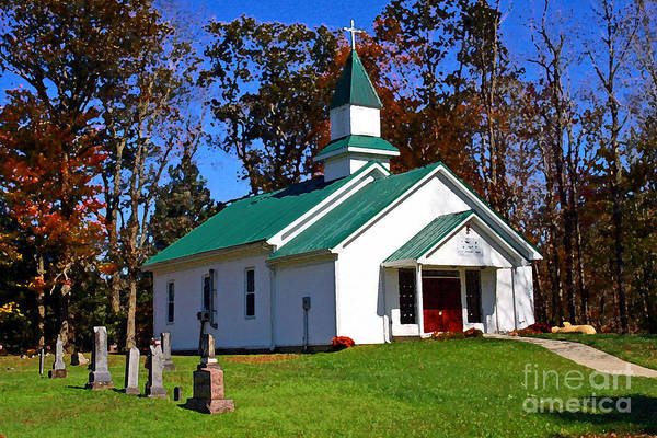 Photograph - Church In The Hills by Karen Adams