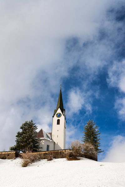 Photograph - Church In Winter Hirschegg Kleinwalsertal Austria Europe by Matthias Hauser