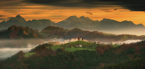 Panorama Wall Art - Photograph - Church... by Krzysztof Browko