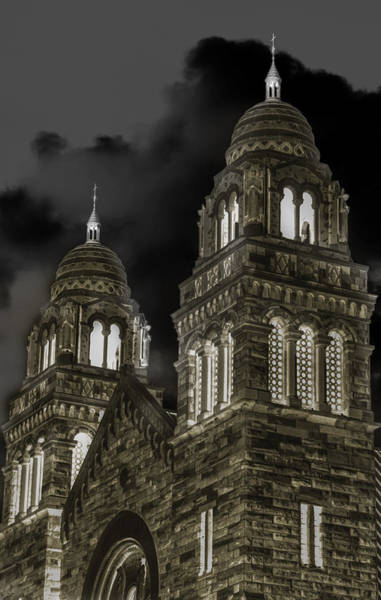 Baraga Photograph - Church Lights On St. Peter Cathedral by Optical Playground By MP Ray