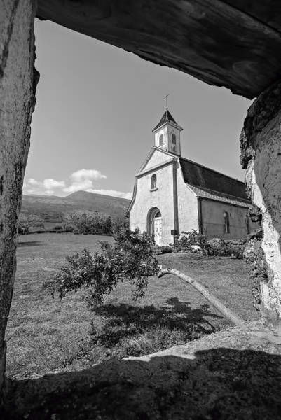Photograph - St. Joseph's Church On Maui - Bw by Marilyn Wilson