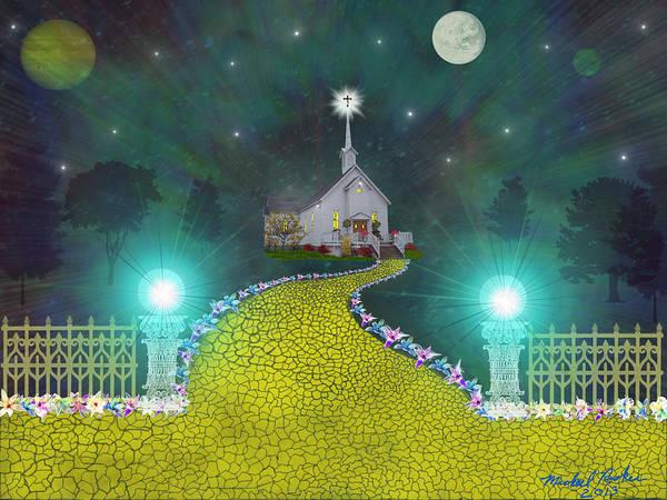 Easter Sunday Digital Art - Church Of God by Michael Rucker