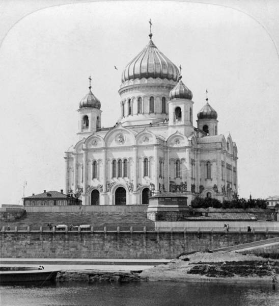 Russian Orthodox Church Painting - Church Of Our Savior by Granger