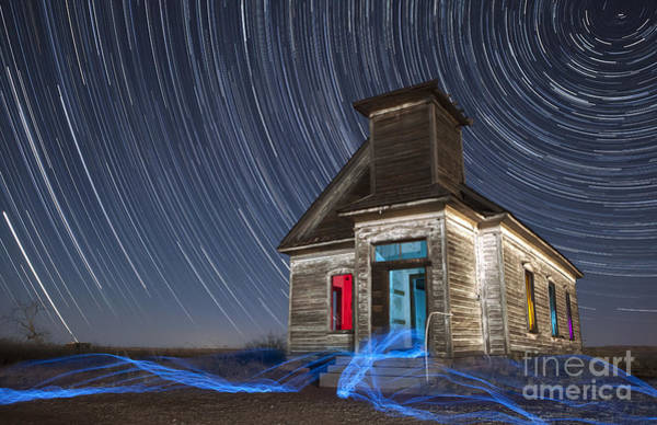 Star Trails Photograph - Church Of Taiban by Keith Kapple