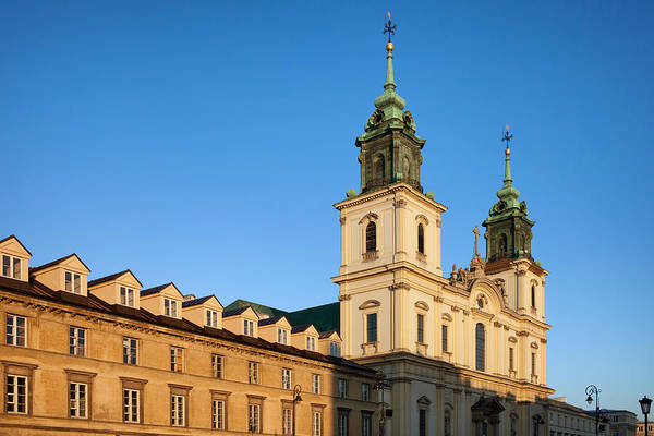 Tenement Photograph - Church Of The Holy Cross And Tenement Houses In Warsaw by Artur Bogacki