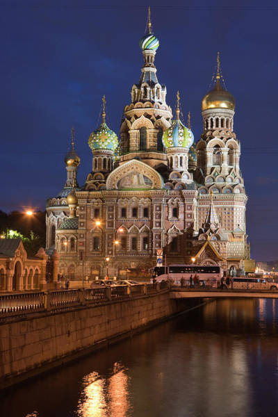 Cathedral Of Christ The Savior Photograph - Church Of The Savior On Spilled Blood by Holger Leue