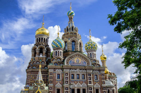 Cathedral Of Christ The Savior Photograph - Church Of The Spilled Blood - St Petersburg Russia by Jon Berghoff