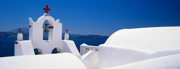 Greece Photograph - Church, Oia, Santorini, Cyclades by Panoramic Images