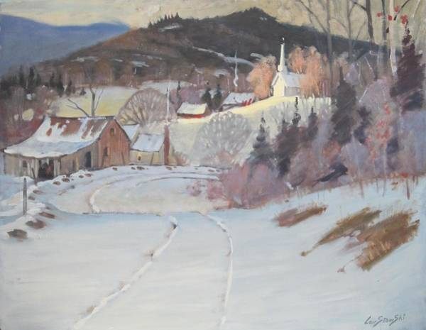 Upstate New York Painting - Church On The Hill by Len Stomski
