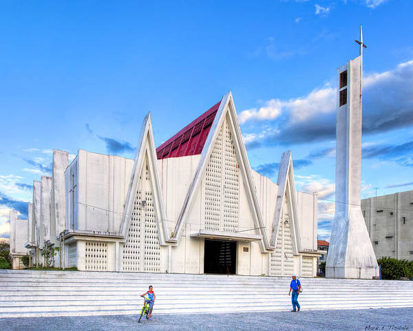 Photograph - Church On The Main Square - Modern Architecture In Liberia Costa Rica by Mark Tisdale