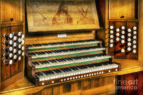 Player Piano Photograph - Church Organ Art by Ian Mitchell