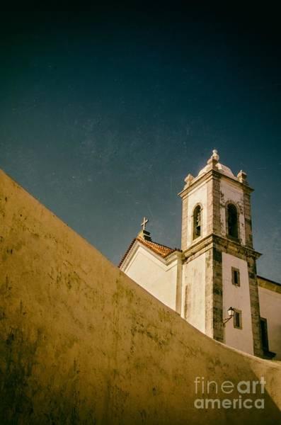 Stucco Photograph - Church Over Wall by Carlos Caetano