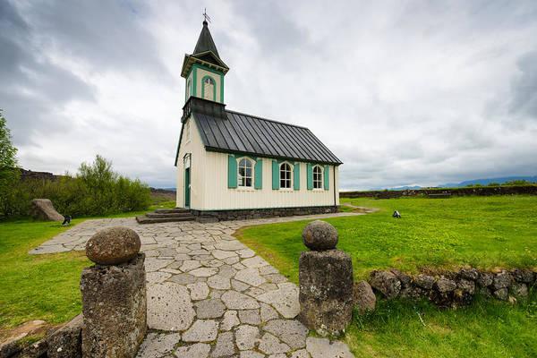 Photograph - Church Pingvallakirkja South Iceland Pingvellir by Matthias Hauser