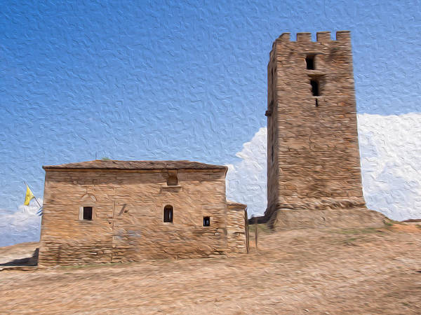 Macedonia Digital Art - Church With A Tower by Roy Pedersen