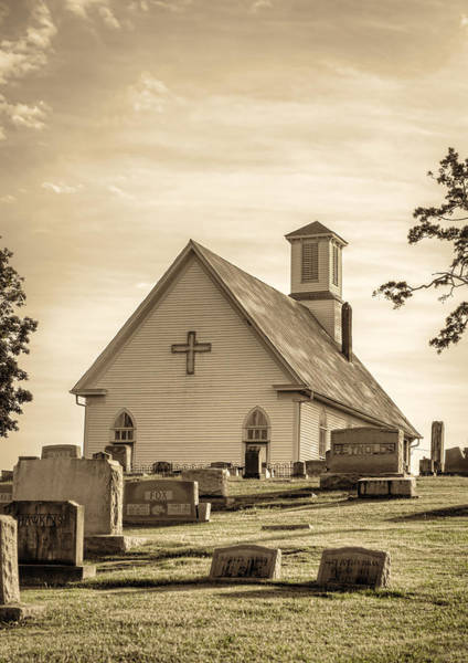 Photograph - Church Yard by Heather Applegate