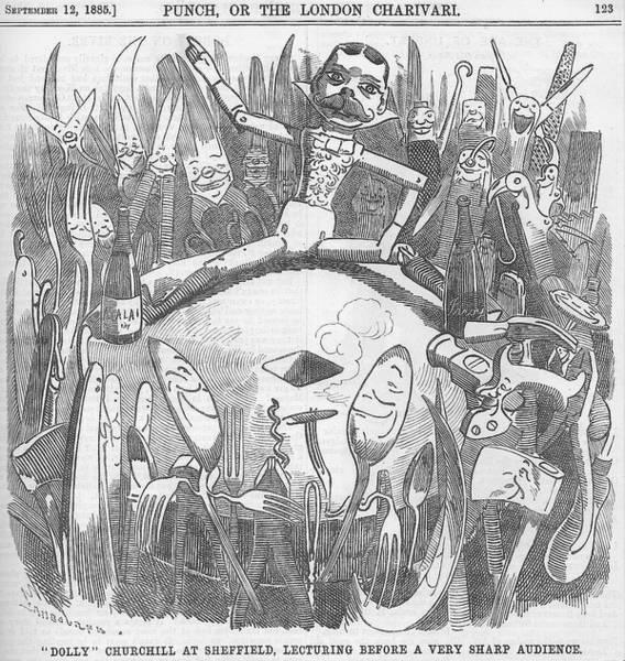 Churchill Lecturing Cartoon Art Print