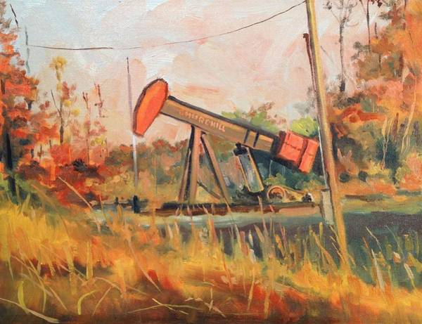 Pump Jack Wall Art - Painting - Churchill Pump Jack by Spencer Meagher