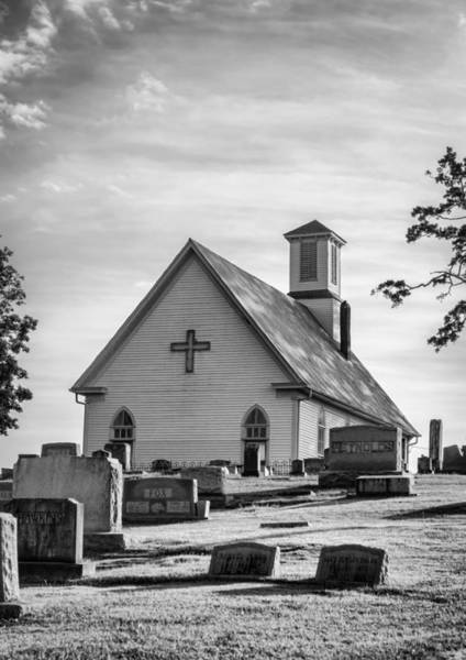 Photograph - Churchyard Bw by Heather Applegate