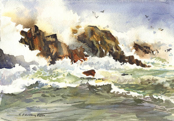 Painting - Churning Surf by P Anthony Visco