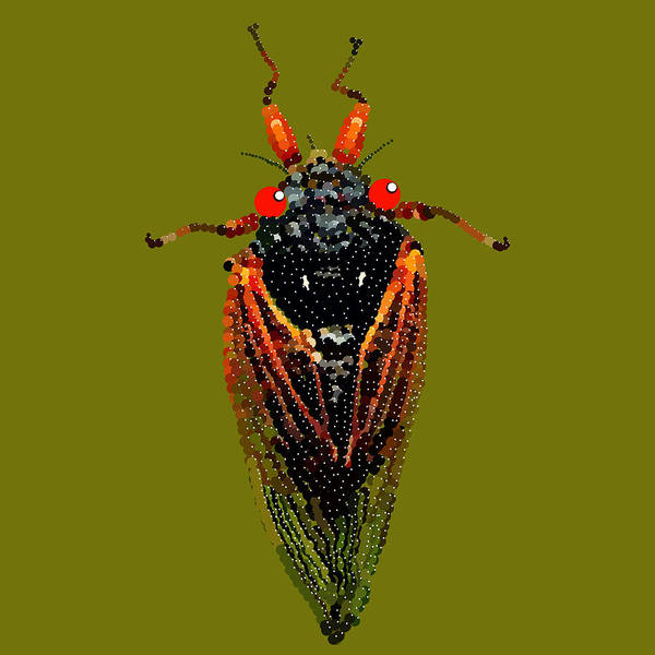 Cicada In Green Art Print