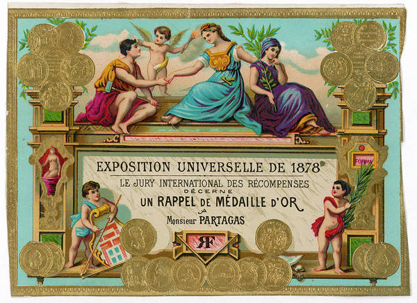 Gold Medal Drawing - Cigar Label For Cigars By Monsieur by Mary Evans Picture Library