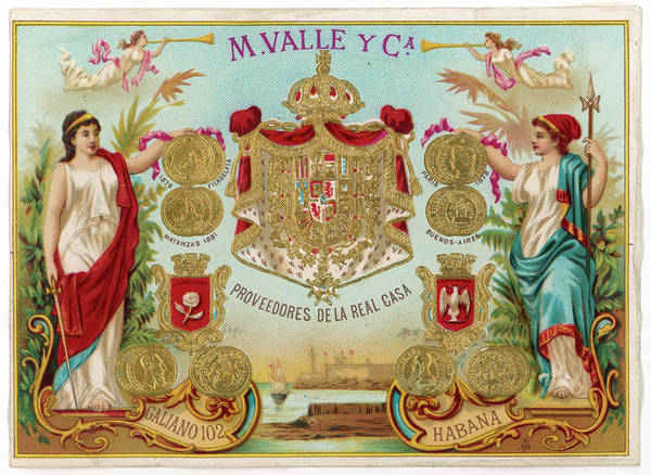 Gold Medal Drawing - Cigar Label For Havana Cigars by Mary Evans Picture Library