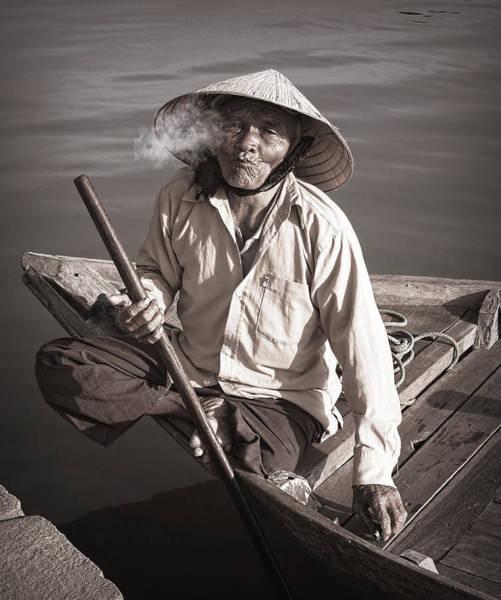 Photograph - Cigar Man by Kim Andelkovic