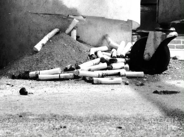 Photograph - Cigarette Litter Buds by WaLdEmAr BoRrErO