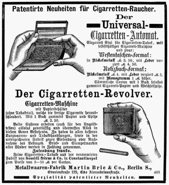 Novelties Painting - Cigarette Roller Ad by Granger