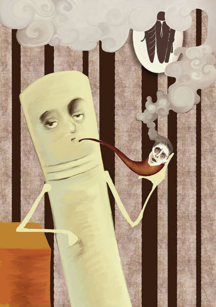 Social Living Wall Art - Photograph - Cigarette Smoking Away Human In Pipe by Fanatic Studio / Science Photo Library
