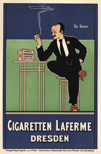 Belle Epoque Photograph - Cigaretten Laferme Dresden by Gianfranco Weiss