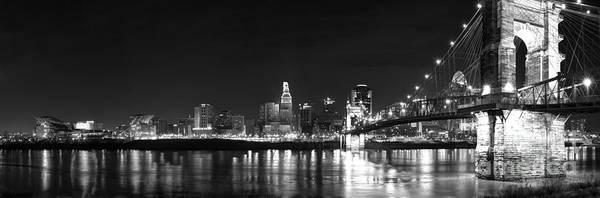 Ohio River Photograph - Cincinnati At Night by Twenty Two North Photography