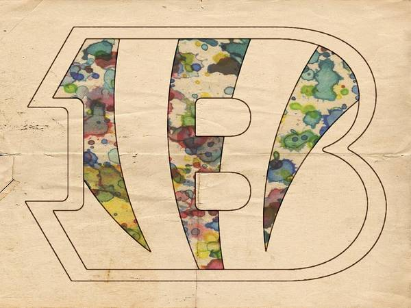 Painting - Cincinnati Bengals Logo Art by Florian Rodarte