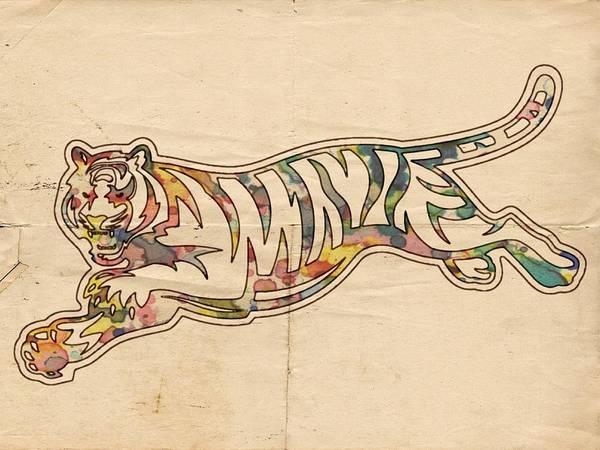 Painting - Cincinnati Bengals Poster Logo by Florian Rodarte
