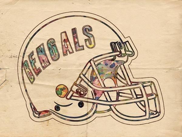 Painting - Cincinnati Bengals Poster Vintage by Florian Rodarte