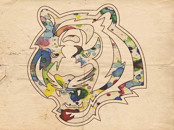 Painting - Cincinnati Bengals Vintage Art by Florian Rodarte