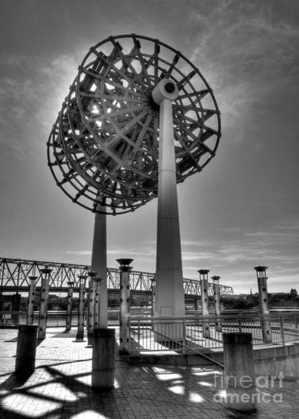 Photograph - Cincinnati Big Wheel Bw by Mel Steinhauer