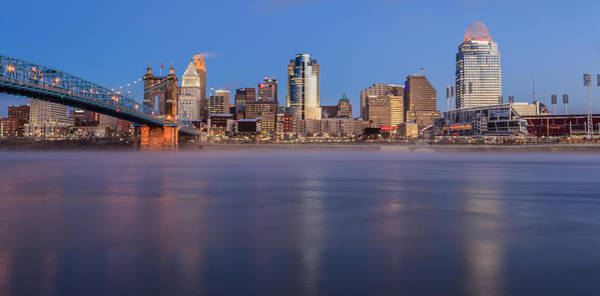 Photograph - Cincinnati Frozen by Keith Allen
