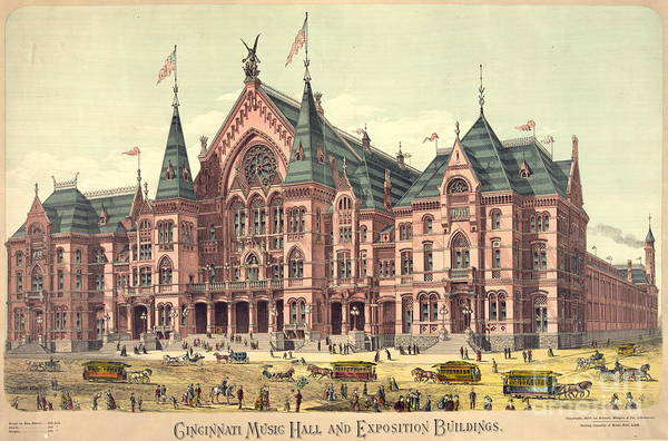 Wall Art - Photograph - Cincinnati Music Hall 1879 by Padre Art