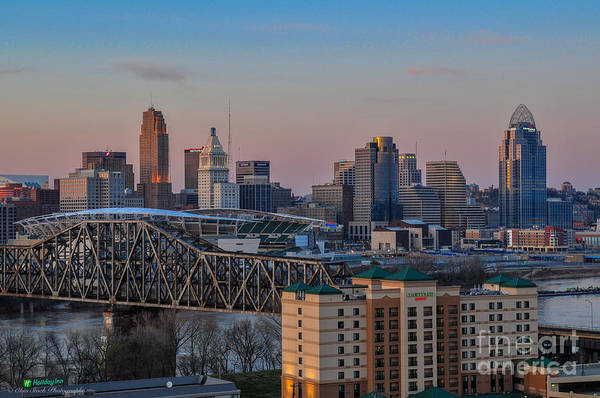 D9u-876 Cincinnati Ohio Skyline Photo Art Print