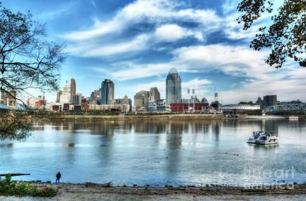 Photograph - Cincinnati On The Ohio River by Mel Steinhauer