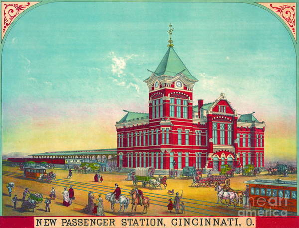 Wall Art - Photograph - Cincinnati Railroad Station 1881 by Padre Art