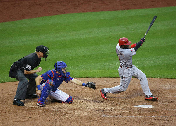 Photograph - Cincinnati Reds V New York Mets by Al Bello