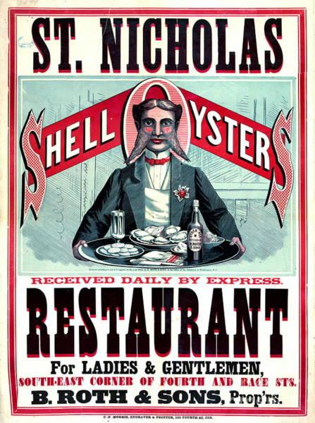 Wall Art - Photograph - Cincinnati Restaurant Ad 1873 by Padre Art