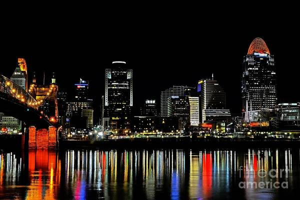 Photograph - Cincinnati Skyline Dreams 3 by Mel Steinhauer