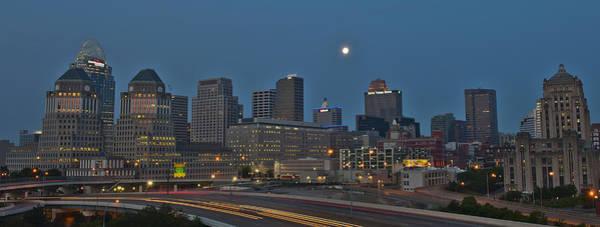Cincinnati Skyline From Mt. Adams Art Print