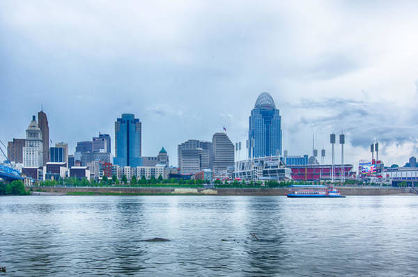 Photograph - Cincinnati Skyline Image Of Cincinnati Skyline And Historic Joh by Alex Grichenko