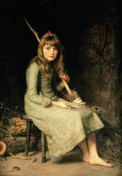Broom Photograph - Cinderella, 1881 Oil On Canvas by Sir John Everett Millais